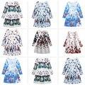 Winter Girl Long Sleeve Dress Autumn Teenager Girls Dresses for Kids Butterfly Flower Print Dress Girl Vintage Children Clothing