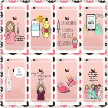 Spain Cute Cartoon Medicine Nurse Doctor Dentist Case For iPhone6 SE 5 5S  6S 6Plus 7 7Plus Soft silicone TPU Back Cover Capa