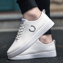LAISUMK Spring New Men Casual Shoes Breathable Wear Resistant Comfortable Summer White Round Toe Lace Up Flat Snekaers