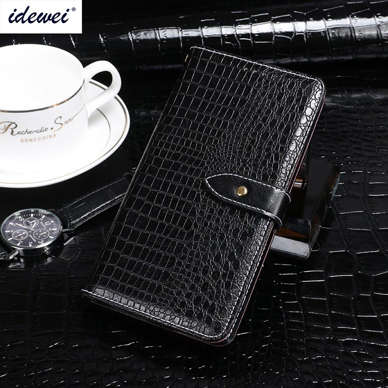 ZTE Blade V9 Case Cover Luxury Leather Flip Case For ZTE Blade V9 Protective Phone Case Crocodile Grain