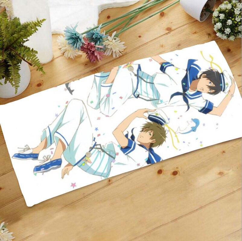 Oct. Home Textile Free! Iwatobi Swim Club Anime Haruka & Makoto Microfiber Fabric71*32CM Towel Gift #40159