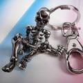 skeleton keychain key ring high quality skull key chain llaveros hombre creative chaveiro portachiavi Halloween gift