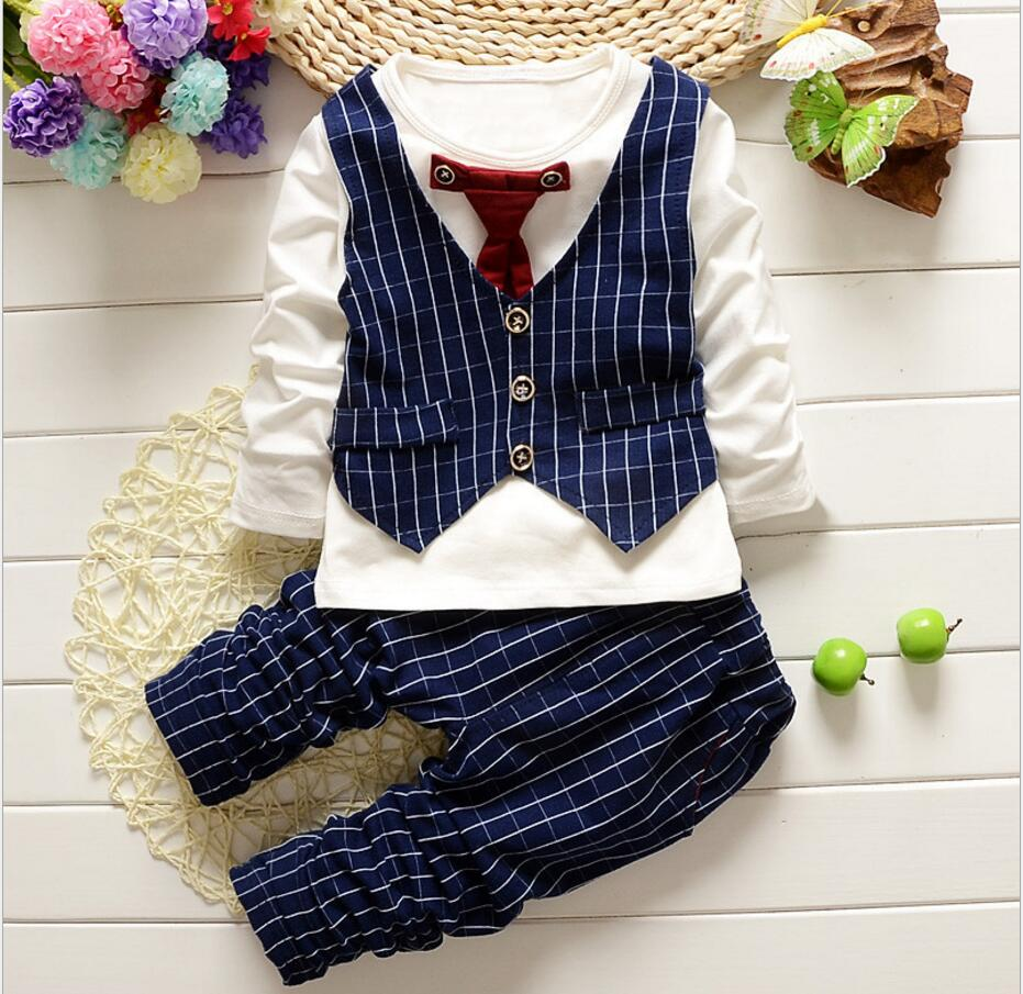2 pcs Baby Boys Suspender Romper + Vest + Bow Tie Newborm Formal Suit Infant Spring Clothes Toddler Wedding Party Costume HB3054 baby college waistcoat romper 2016 new born gentlemen 2 pcs romper hat clothing set infant wedding party formal suit