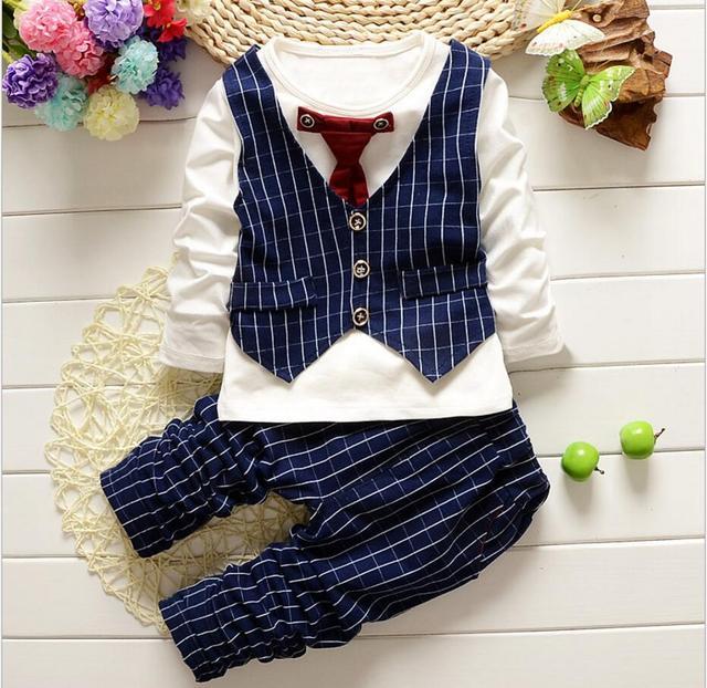 5ce0f212c 2 pcs Baby Boys Suspender Romper + Vest + Bow Tie Newborm Formal ...