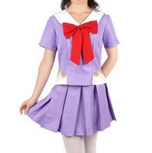 Women's Anime Future Diary Cosplay Costumes Female  Mirai Nikki Yuno Gasai Costume Women Halloween Party School Uniform Dress цена 2017