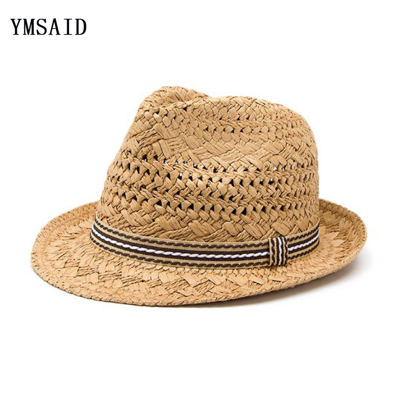6be8ab3f754bd Detail Feedback Questions about Ymsaid Summer Beach Men Sun Hat Women Jazz Straw  Hat Casual Panama Cap Male Fedora Brand Fashion Female Hat For Men Visor ...