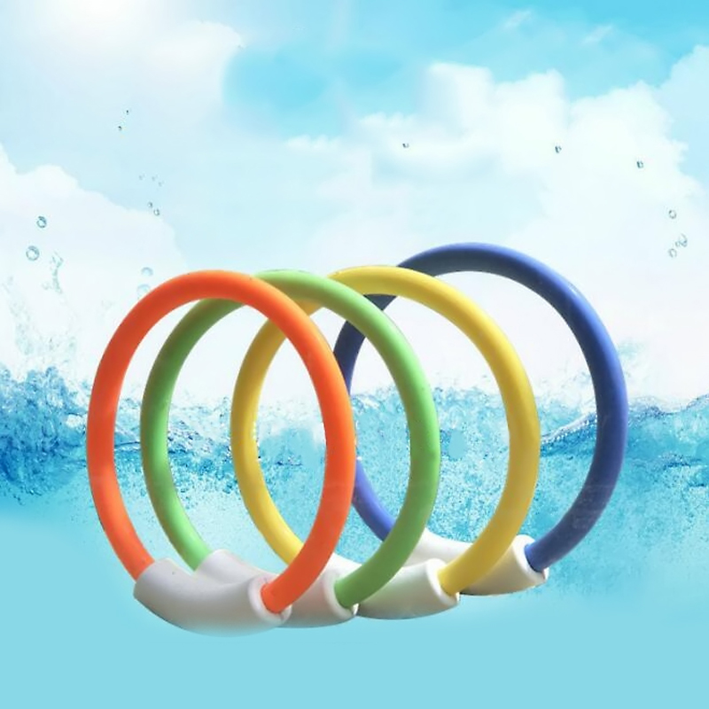 4 Pcs/set Colorful Diving Ring Buoys Outdoor Sports Beach Toys for Kids Summer Underwater Swimming Pool Accessories Games Gifts