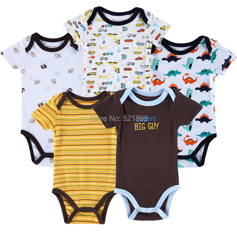 5 Pcs Lot Luvable Friends Car Themed Baby Clothing Baby