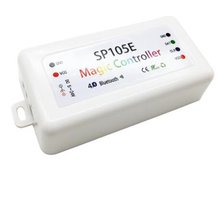 SP105E Magic Controller Bluetooth 4.0 DC5-24V 2048 Pixels for WS2811 2812 2801 6803 IC LED Strip Support IOS / Android APP