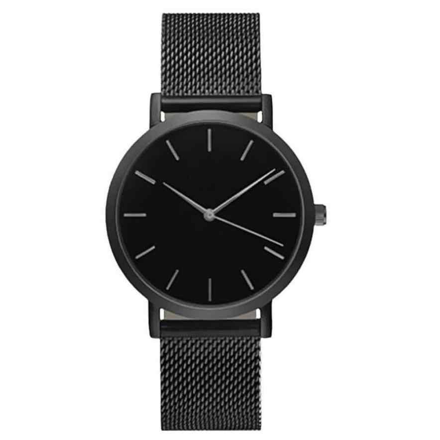נשים שעונים מותג יוקרה עלה זהב שחור צמיד שעון גבירותיי מינימליסטי שעון montre femme 2018 # TX4
