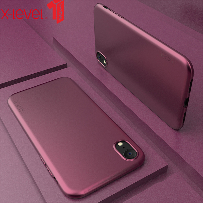 X-Level For iPhone X XS XR Case Soft TPU Silicone Original Ultra Thin Touch Protective Back Cover Coque Max