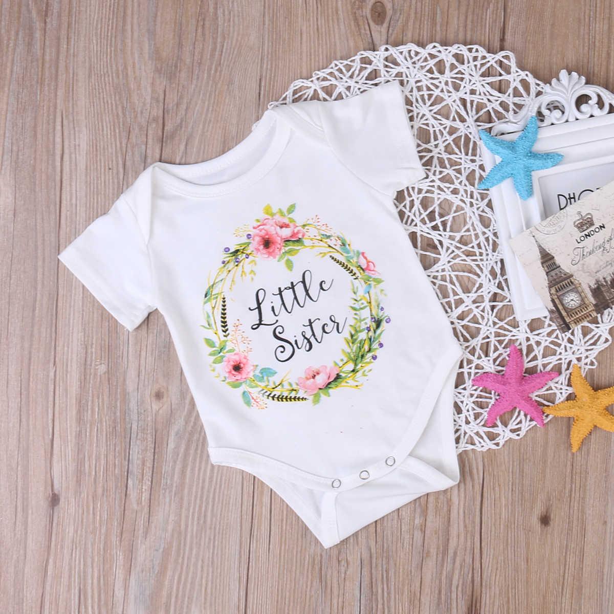 Pudcoco/Одежда для маленьких девочек; одежда для сестер; боди и футболка