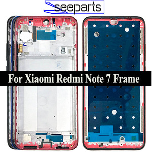 Black/Blue/Red For Xiaomi Redmi Note 7 Housing Middle Frame Bezel Middle Replacement Parts For Redmi Note 7 Pro Middle Frame
