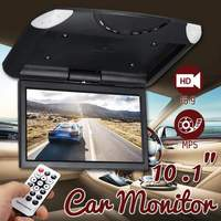 10.1 Inch TFT LCD Digital Screen Car Roof Mounted Display Monitor with Remote Controller Car Ceiling Flip Down DVD CD Player