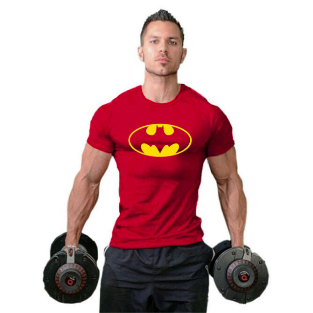 Batman Mens Tshirts Muscle Brand Fitness men Bodybuilding Workout Clothes Cotton gyms Sporting T Shirt Men plus size tops