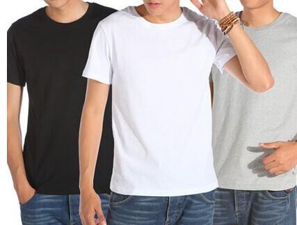 cec2d2bd2a4 Gray Black Blank White T Shirts For Men Women Kids Wholesale 100 Pcs a Lot  Mix Size OEM Brand Order Shirts Tee Shirt