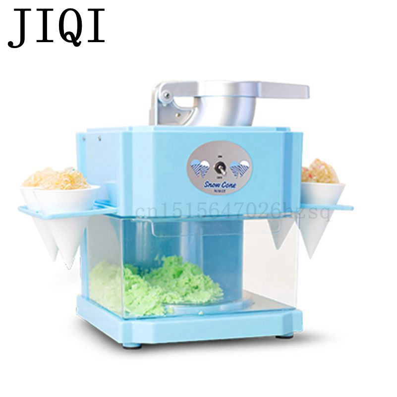 JIQI household electric Ice Crushers & Shavers kitchen helper Snow Cone Maker 3L big capacity,blue white jiqi household snow cone ice crusher fruit juicer mixer ice block making machines kitchen tools maker
