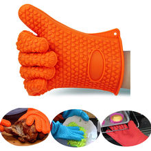 2 шт/пара термостойкие перчатки для барбекю приготовления пищи