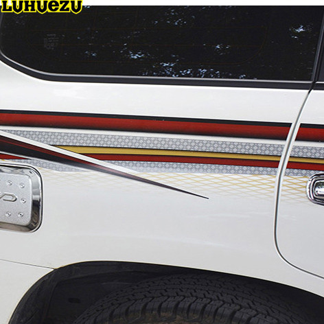 Luhuezu 3M Car Body Sticker For Toyota Land Cruiser 200 LC200 2008-2015 Accessories smarty для toyota lc 200