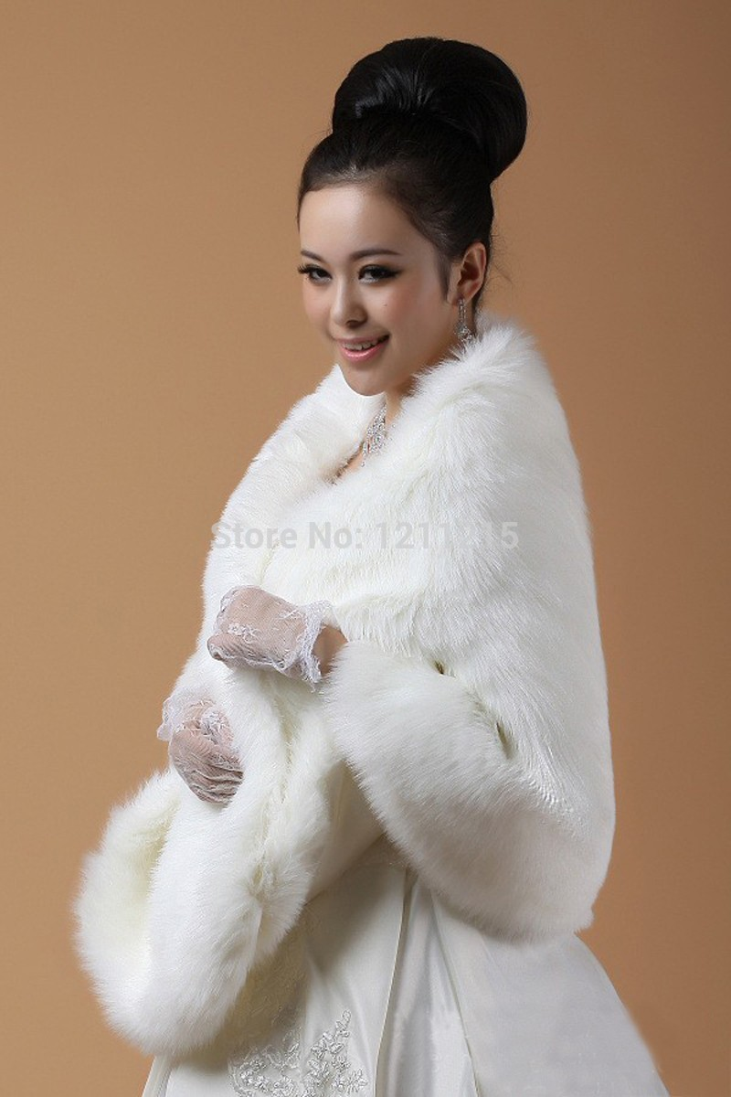 plus size wedding bridal faux fur shawl wrap cape shrug stole high quality bridal accessory wedding