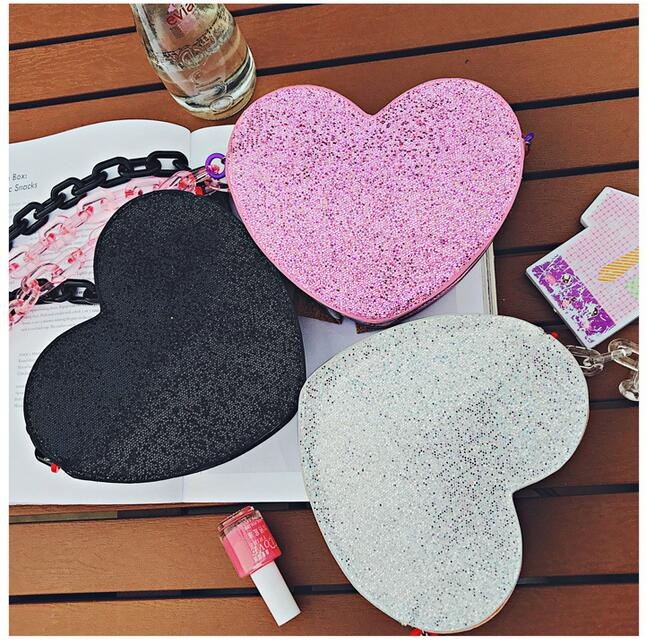 Fedex 10 pieces Heart Shape Evening Sequins Stone Crystal chain Luxury Clutch Bag Ladies Handbag Party Purse shoulder bag free shipping for fedex dhl ems factory price 2013 lady s stitching color long series crystal evening bag clutch bag handbag