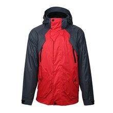 2019 New Men 3-IN-1 Jacket Windbreaker Autumn Hiking Waterproof Detachable Fleece Liner Two Clothes Outwear Coat