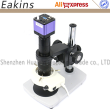 Wholesale prices 1/2 inch HD VGA Digital Video Industry Microscope set CCD 30 fps/sec 1080P High-speed 180X C-Mount Lens+Metal stand holder+56LED