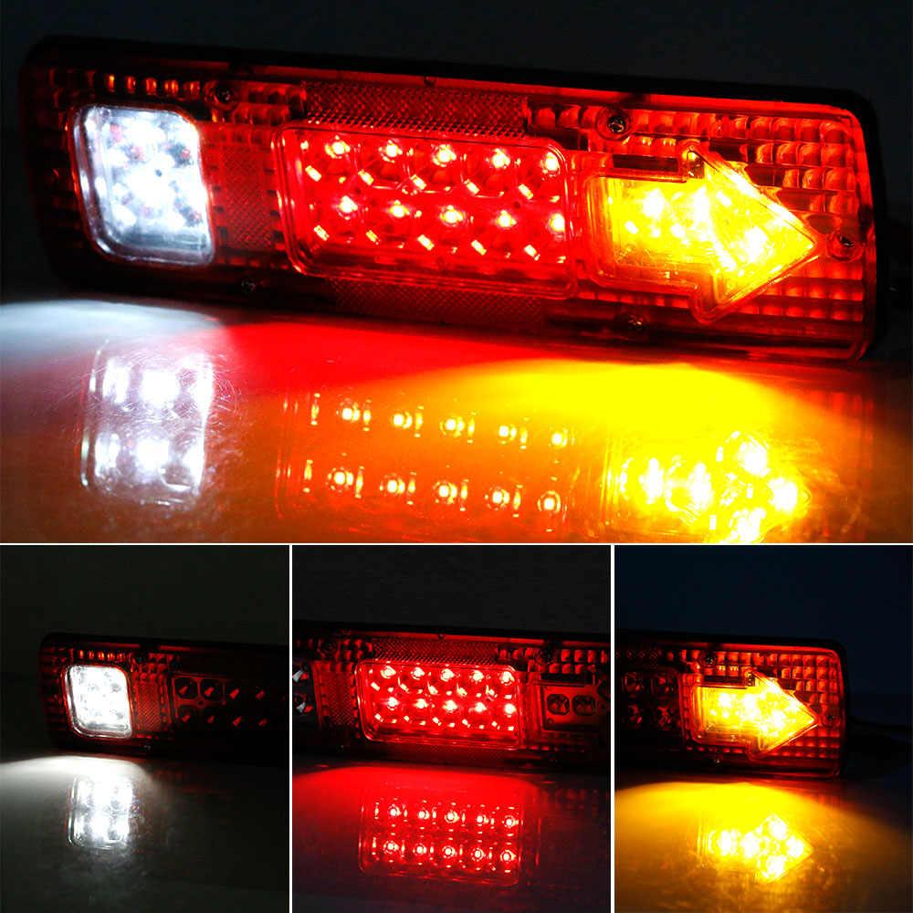 Castaleca 1 Sztuk 19 Led Oświetlenie Przyczepy Kempingowej Przyczepy Ciężarówki światła Przyczepy Kempingowej Platforma Ciężarówki światła Turn Signal