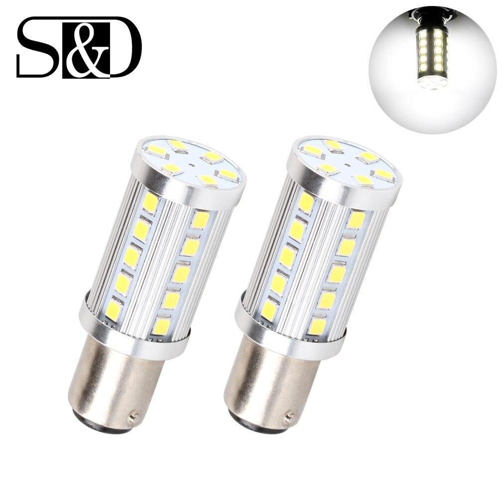 Подробнее о 2pcs 1157 1156 BAY15D LED Brake Lights - Canbus Error Free Bulbs - For  Backup Reverse Lamp - White 36SMD 2835 Chips (Pack of 2) 2pcs t15 w16w 15smd high power chips led 2835 error free canbus bulbs backup reverse turn signal light
