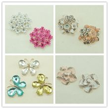 Hot Sale Flat Back Rhinestone Button Flat Back, Decorative Phone Case Sticker With Pear DIY Handmade(20 /lot(China)