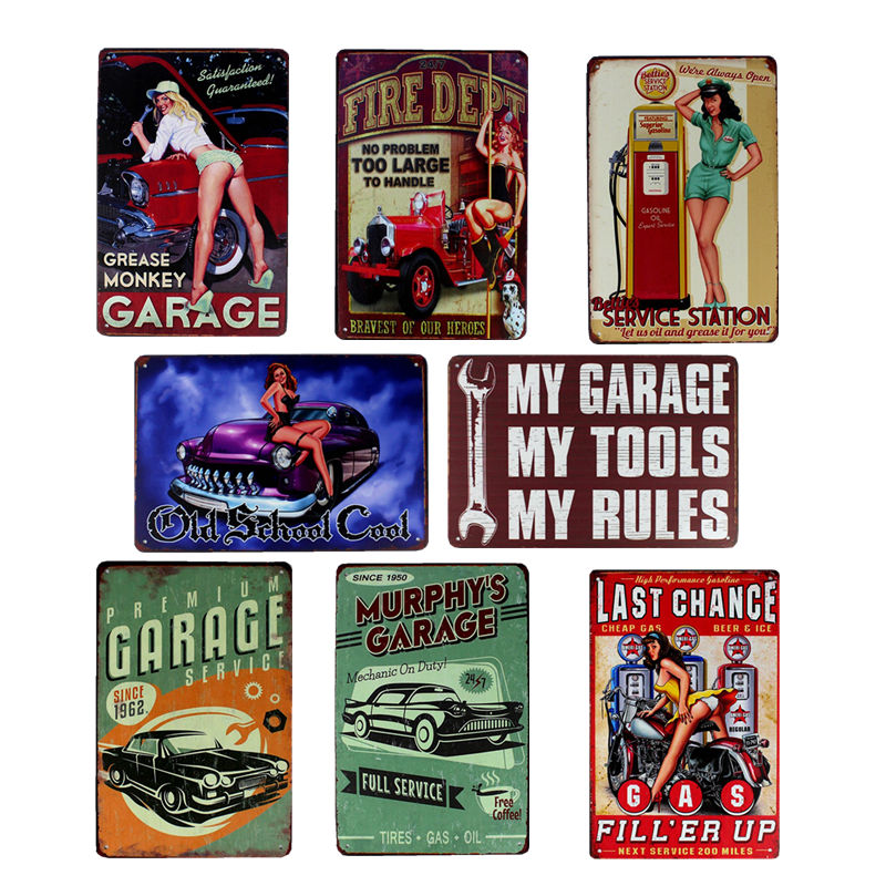 Hohappyme My Garage My Tools My Rules Plaque Signs Metal
