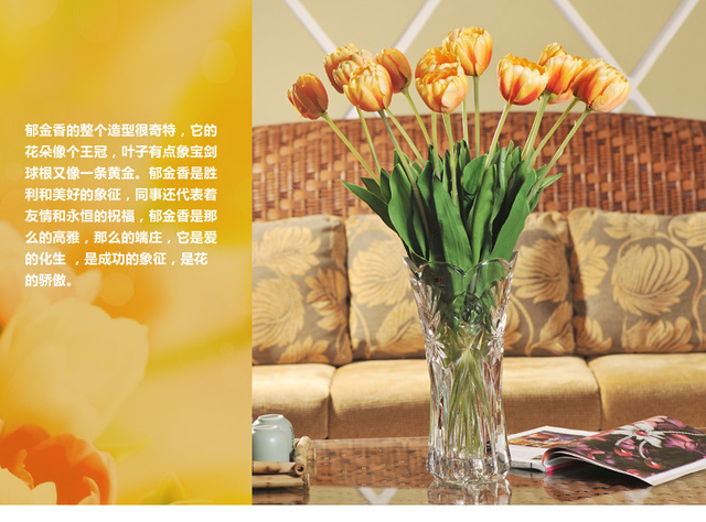 High simulation tulip flowers to decorate the wedding decoration high simulation tulip flowers to decorate the wedding decoration christmas decoration tray table junglespirit Images