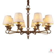 Elegant Pendant Lamps Brass Chandelier Modern E14 Holder Iron Home Lighting Fixture Foyer Living Room Factory Directly Sales