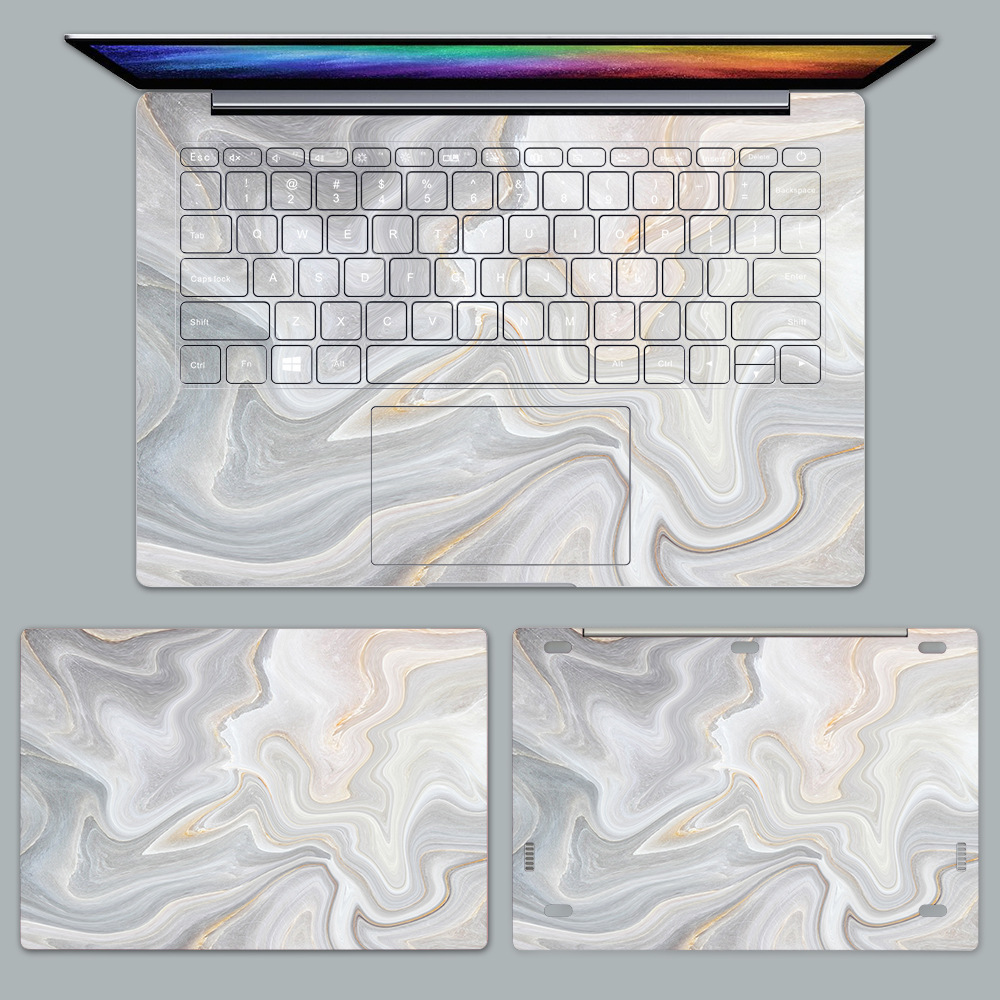 Marble Printed Skin Stickers for Xiaomi Notebook Air 12.5 13.3 Pro 15.6 inch Case PVC Decal Laptop Stickers for Mi Air 12 13