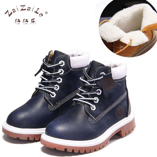 2391affb2 Zaizaile spring autumn winter children boots kids warm shoe fur girls Rome  brown boots baby leather shoes toddler brand 1201F
