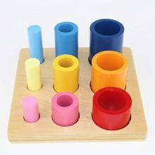 Juguetes  Montessori para ensartar y  apilar
