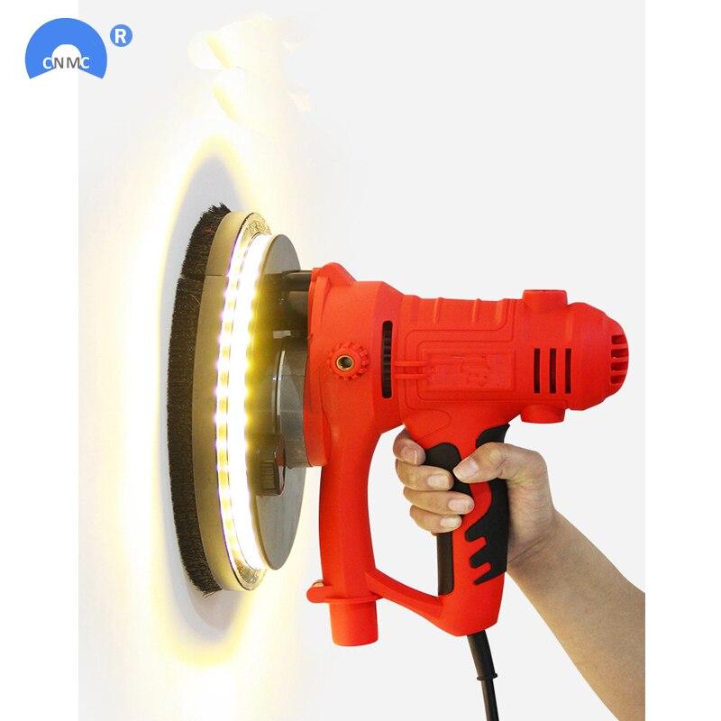 Бесплатная доставка, чистящий настенный полировщик/Электрический светодиодный светильник/самоочищающийся/песочный полировщик
