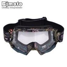 Bjmoto Cool Motocross ATV  Biker Goggles Snowmobiling Sking Snowboarding Winter Outdoor sport racing Skate goggle glasses