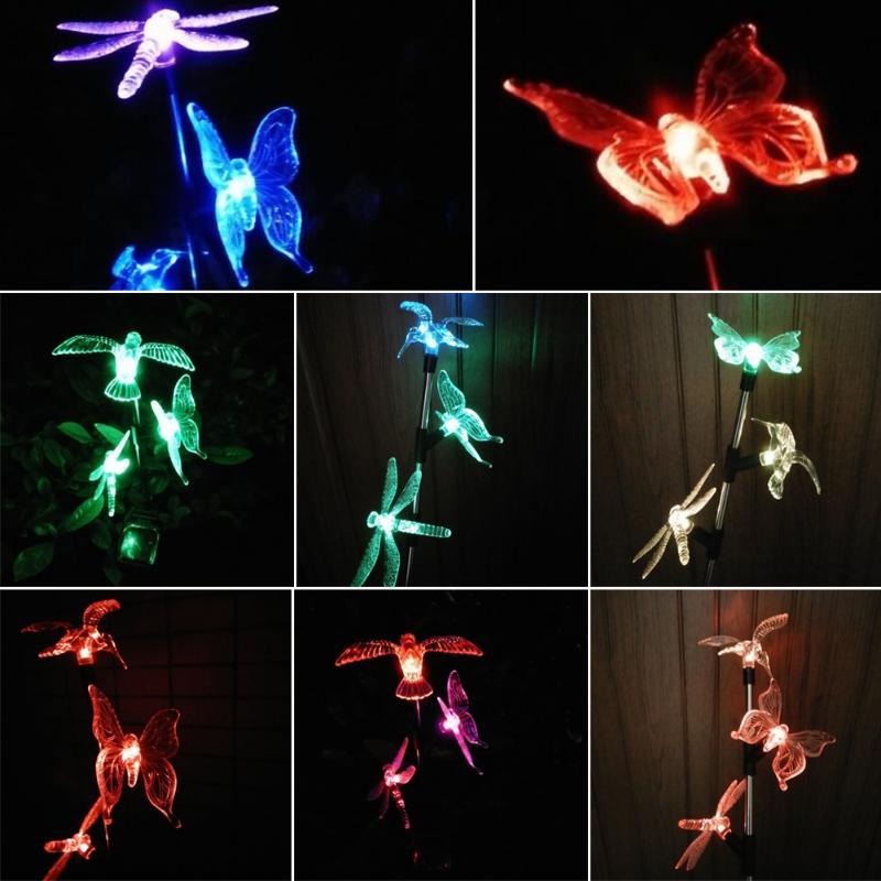 3 LED Solar Power Outdoor Waterproof Light Yard Lawn Xmas Animal Shape Landscape Lamp Garden Yard Illumination Decoration