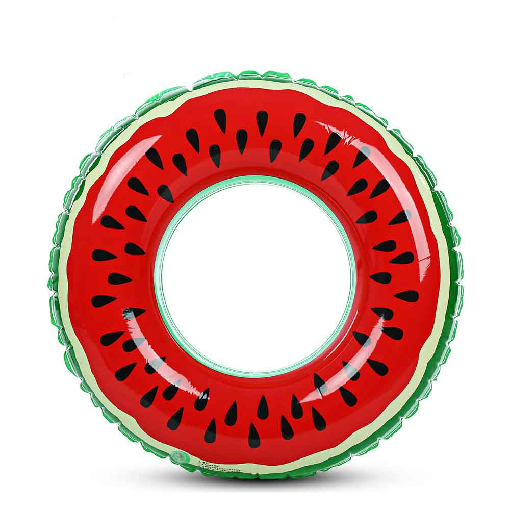 60/70/80/90CM Beach or swimming pool swimming ring PVC inflatable watermelon adult children's fruit swimming circle