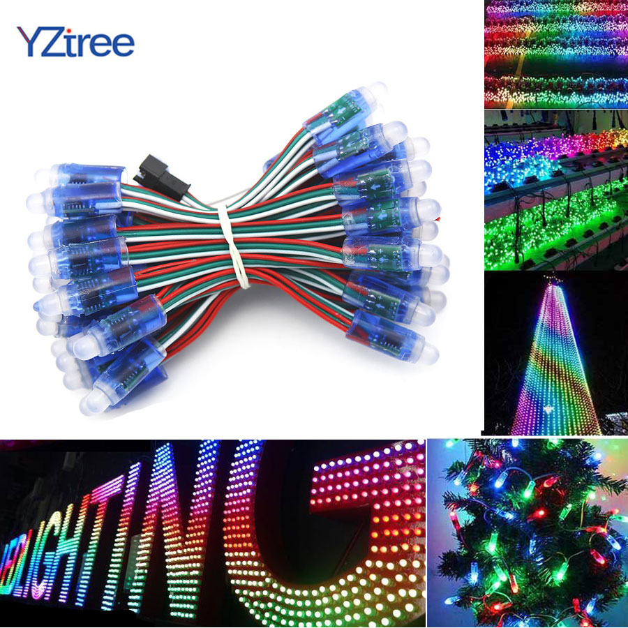 Lights & Lighting 50pcs/lot 12mm Ws2811 2811 Rgb Led Module String Lights Waterproof Dc5v Digital Full Color Advertisement Led Pixel Module Lights Jade White Led Modules