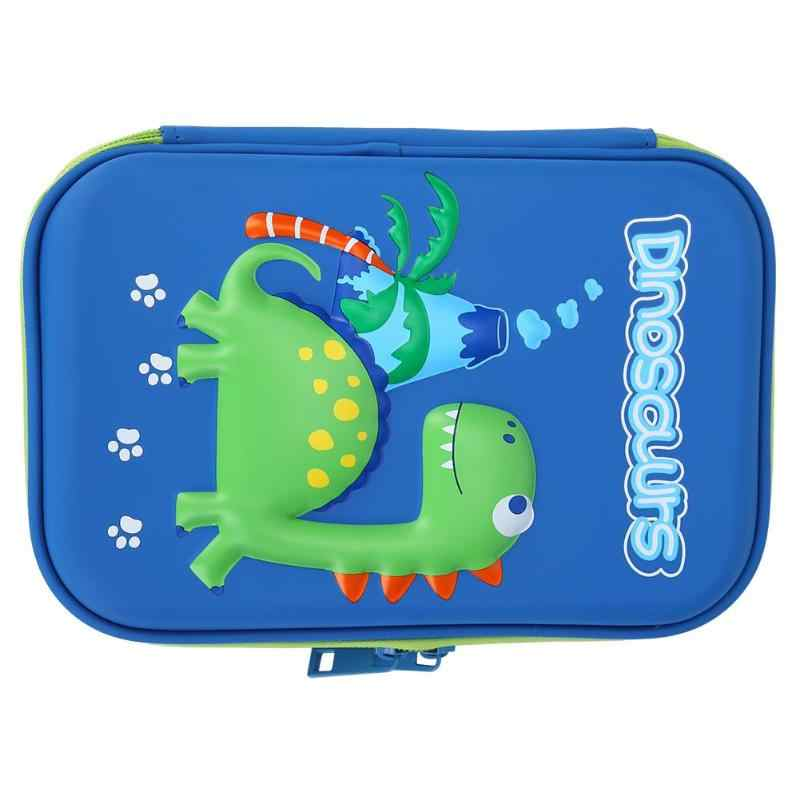 Cartoon Dinosaur EVA Pencil Box Large Capacity Pencil Bags Storage Office School Supplies Pencil Cases For Girls School Statione
