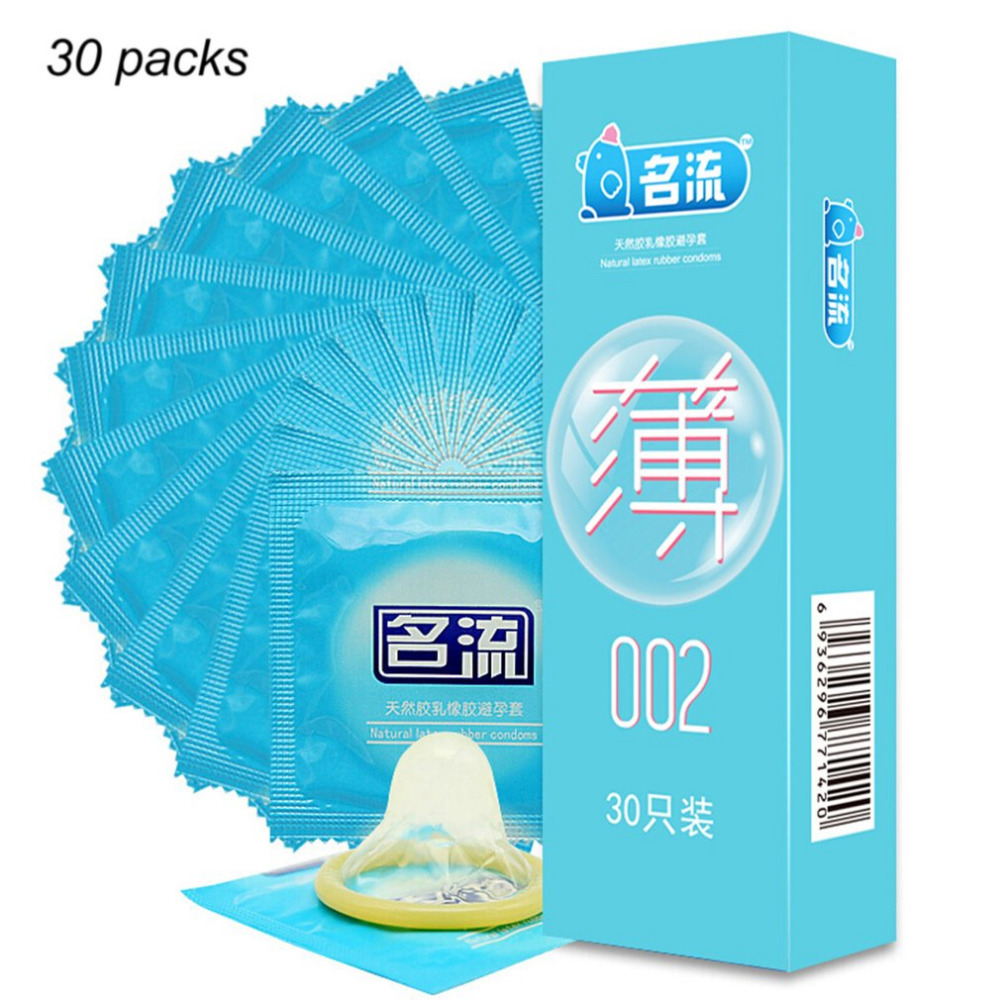 MingLiu Brand 30pcs Ultra Super Thin 002 Condoms Slim Penis Sleeve Intimate Condones Kondom Adult Sex Toy Product For Men(China)