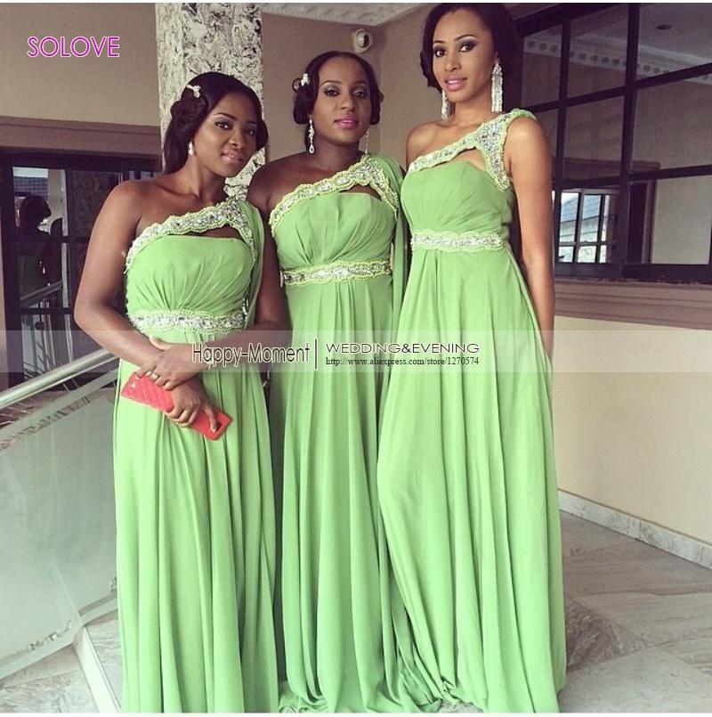 One Shoulder Elegant A Line font b Bridesmaid b font font b Dress b font Wedding