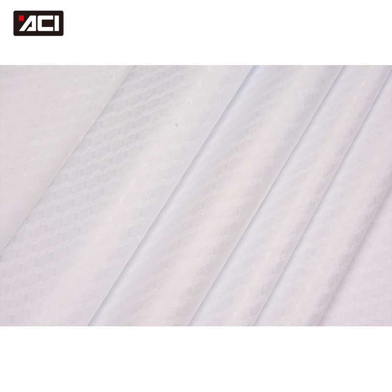 ACI New Brocade Fabric White Color High Quality Bazin Riche African Fabric Guinea Brocade Jacquard Fabric Patchwork For Dress