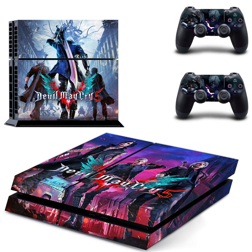 Devil may cry 5 ps4 skin sticker decal for playstation 4 console and 2 controller skins ps4 stickers vinyl accessory