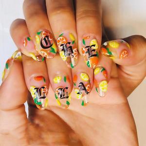 Image 3 - 1 шт. Готическая буква 3D наклейка для ногтей розовое золото слова слайдер для ногтей наклейки Клейкие стикеры для маникюра украшение для ногтей