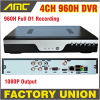 New 4CH 960H DVR Recorder Full D1 Real Time Recording H 264 Network 4 Channel CCTV