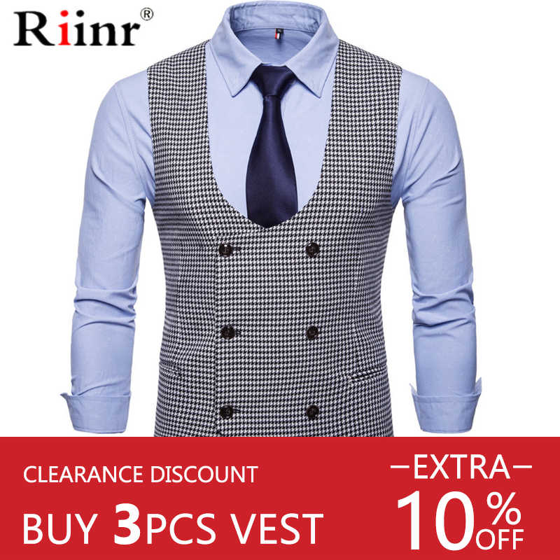 Riinr mannen Classic Party Wedding Paisley Plaid Vest Vest Pocket Vierkante Tie Pak Set Pocket Vierkante Set Lente Herfst