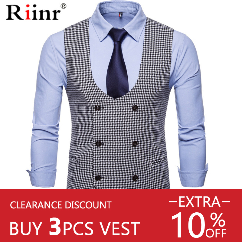 Riinr Men's Classic Party Wedding Paisley Plaid Waistcoat Vest Pocket Square Tie Suit Set Pocket Square Set Spring Autumn